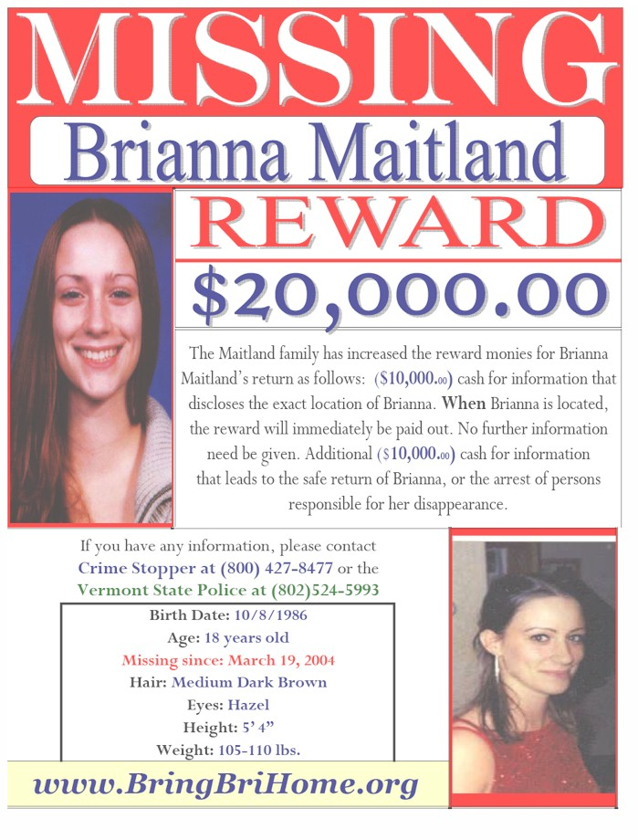Image result for brianna maitland missing