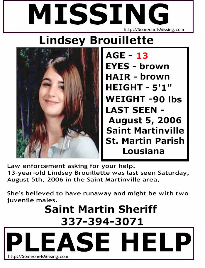 Louisiania MISSING People - MISSING Persons Lousiana